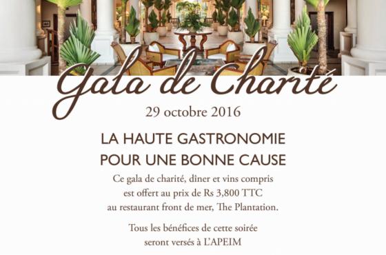 Soirée de Gala caritative à The Residence Maurice