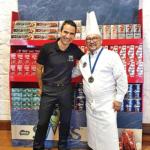 1. Erkan Konak, Cluster Manager de Nestlé Products Mauritius Ltd, et Patrick Vitry, chef pâtissier