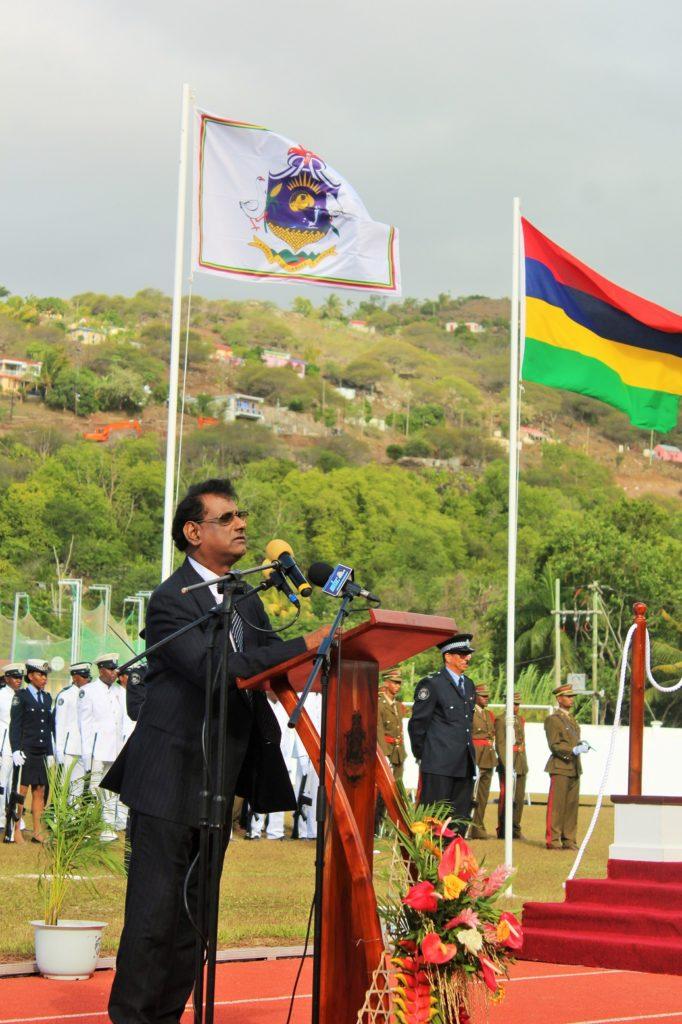 Le vice président de Maurice, Paramasivum Vyapoory à Rodrigues