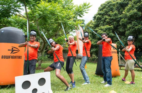 L'équipe de La Gazette -Archery Tag - BowFighters ile Maurice