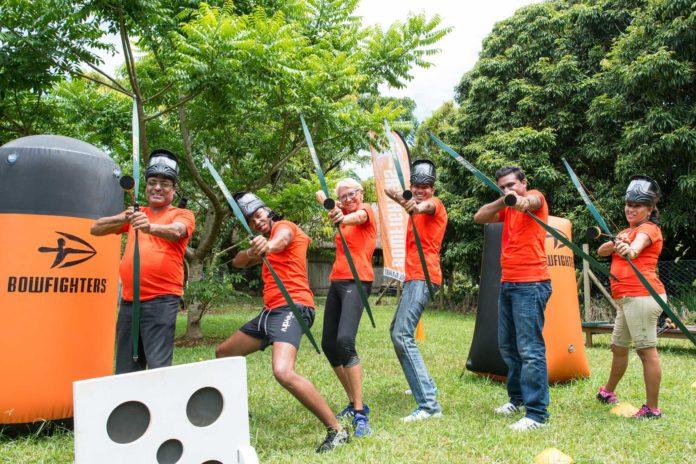 L'équipe de La Gazette -Archery Tag - BowFighters ile Maurice