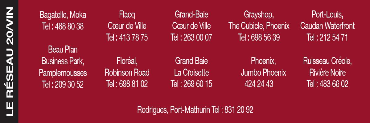 20/Vin Ile Maurice