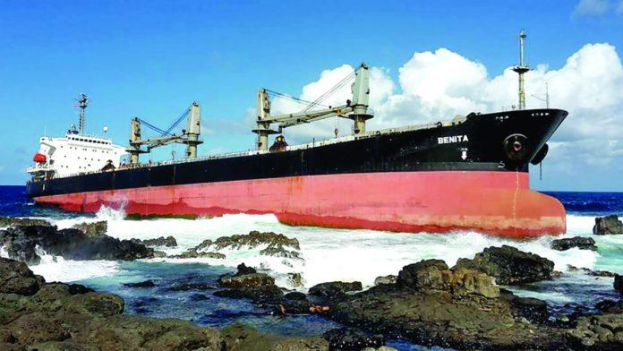 Naufrage du MV Benita au large de Mahébourg