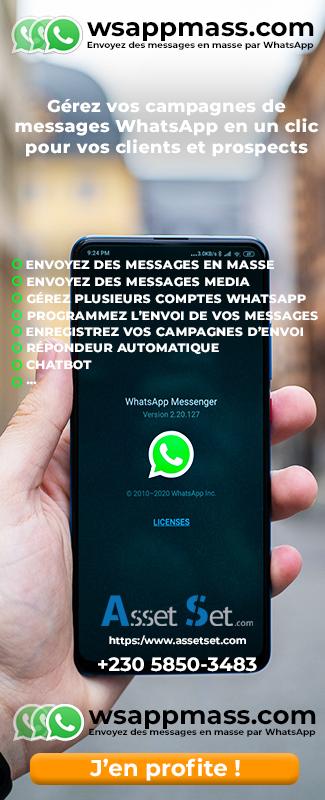 Messages en mase sur WhatsApp